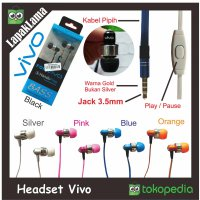 Headset Handsfree Vivo Earphones Universal Good Quality Stereo Bass HF