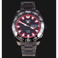 Seiko 5 Sports SRP749K1 Black Red Dial Stainless Steel Bracelet -