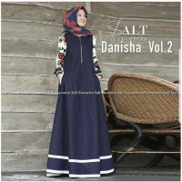 Danisha Vol 2 Dress Balotelly Mix Katun Jepang Gamis Panjang Muslim