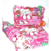 set seprei sarung bantal guling bayi hello kitty