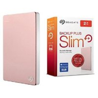 Seagate Backup Plus Slim 2TB : HDD External 2.5' (Warna Rose Gold)