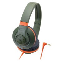 [Best Seller] Audio Technica Portable Headphone ATH-S300 KH (EX) - Orange / Green