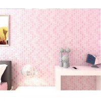 Wallpaper 3D Non Woven Embossed Mosaic Ephedra Plain Pink 90086