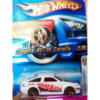(LIMITED) Hot Wheels toyota AE-86 Corolla FTE Putih 2006 First