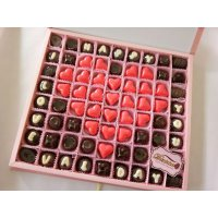 Exclusive Box - Kado Special Valentine Anniversary Birthday - Coklat Ucapan S72D Pink