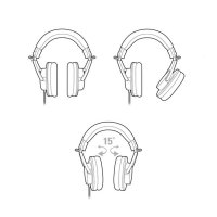 (High Quality) Audio Technica ATH-M20x Professional Monitoring Headphones
