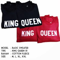 HOODIE JUMPER - KING QUEEN - JAKET COUPLE - JAKET DISTRO FASHION TERBARU 2018 | BJTI221