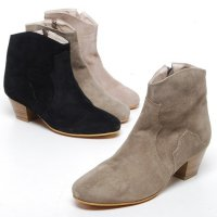 / exchange free] ssoyu 5000 tax suede leather ankle boots Western 5.0 cm