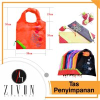 Tas Belanja Lipat Model Strawberry Tas cadangan Shopping bag YC24