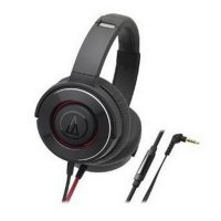 (Premium) Audio Technica ATH-WS550IS Solid Bass Headphones - Black Red