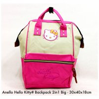 Tas import Wanita Import Backpack Fashion Hello Kitty 2in 1 Big - 5