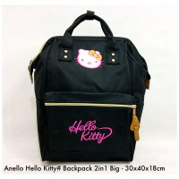 Tas import Wanita Import Backpack Fashion Hello Kitty 2in 1 Big - 7
