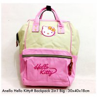Tas import Wanita Import Backpack Fashion Hello Kitty 2in 1 Big - 6