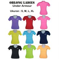 KAOS BAJU WANITA UNDER ARMOUR UNDERARMOUR ZUMBA GYM YOGA SENAM LARI