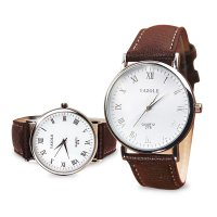 [FREE ONGKIR] Luxury Fashion Faux Leather Mens Analog Watch Watches New Jam Tangan