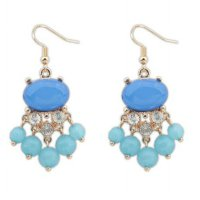anting fashion round drop earrings jan140