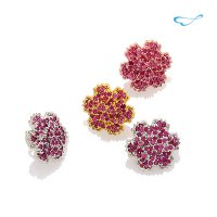 Advanced synthetic ruby ​​flower badge (set of 60) / BRM01 [W]