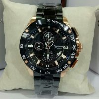 Jam Tangan Alexandre Christie Ac-6463 Pria Black Rose Gold Original