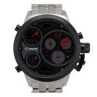 Expedition E6630 Black Red Silver Triple Time