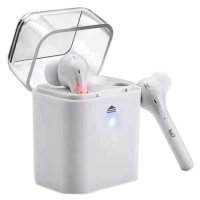 Mini Bluetooth Earphone with Charging Case - White
