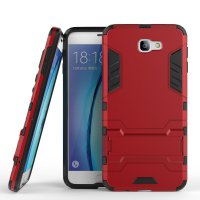 Rugged Kickstand Ironman Back Case for Samsung Galaxy J7 Prime / On 7 2016