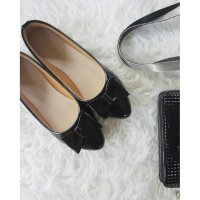 B477 SEPATU WANITA FLAT SHOES SHALMA BLACK BIG SIZE 34 - 44 DUMBUM SHOES