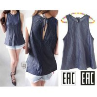 EAC denim sleeveless top blouse original branded highquality 8521 | BAZZF1061