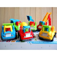 Tractors Mini Cartoon Set ( Mainan Mobil Mobilan Truk Balita)