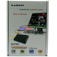 Gadmei TV Tuner/Converter AV To VGA untuk Monitor CRT/LCD/LED 3821 New (Tanpa PC/CPU) - Hitam