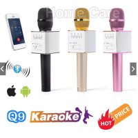 New Promo Q9 Wireless Bluetooth Karaoke Player Microphone Speaker KTV Efek USB PSpeaker Akif / Speaker Bas / Musik