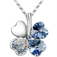 Classic Lucky Clover Necklace Pendants Necklace 925 Sterling Silver / Kalung Wanita