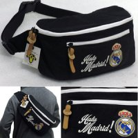Tas Klub Bola Real Madrid Waist Bag Hitam