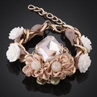MCB002 New Style Fashion Bracelet Handmade Shiny Women Crystal Bracelet