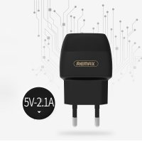 Remax Flinc Dual USB Charger 2.1A For Smartphone - Hitam