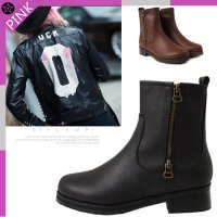CRS610- High Top Walker Flat Ankle Boots