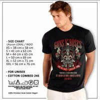 Kaos Guns N Roses Big Size XXXL Live In Jakarta - Not In This Lifetime