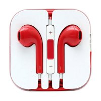 QCF Colour Apple iPhone 5 Handsfree Headset Earphone - Merah - P1704233