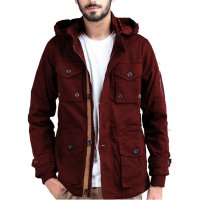 Jfashion Men's Basic Parka Jacket