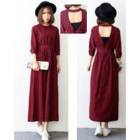 BLOUSE LONG DRESS KOTAK ANGEL TO0204R