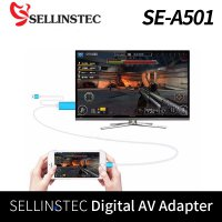 [SELLINSTEC] iphone HDMI TVOUT Smartphone mirroring Digital AV Adapter High Quality SE-A501 / iPhone