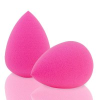 Pink Droplet Beauty Sponge Latex Free Blender Makeup Flawless Liquid Foundation