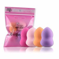 4pcs Pro Beauty Flawless Makeup Blender Foundation Puff Multi Shape Sponges New