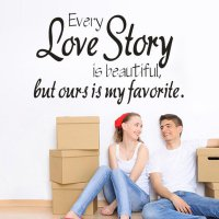 every love story Wall Sticker Animals Cats Art Decal Kids Room Decor