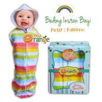 Swaddle Bedong Instan Baby Orange Rainbow