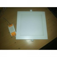 lampu LED panel Downlight kotak & bulat tanam 12 Watt ber garansi