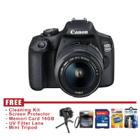 Canon EOS 2000D Kit EF S18-55 IS II - HITAM