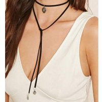 Fashion Choker Water Drop Diamond - Black