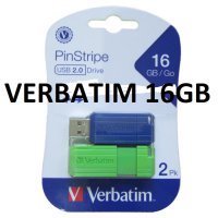 Flashdisk Verbatim Pinstripe 16GB isi 2pcs / Flash Disk Verbatim 16 GB