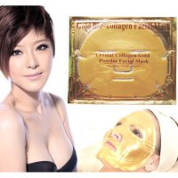 Gold Bio Collagen Facial Mask - MASKER TOPENG EMAS - CRYSTAL GOLD MASK