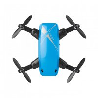 S9 Drone Cute Palm Micro Size Mini Foldable WiFi Camera 480P Blue